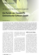 Ein Porträt der Consist ITU Environmental Software AG